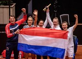 Feest na zege op China in Billie Jean King Cup